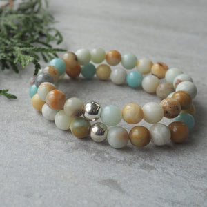 Amazonite Gemstone Bracelet made in Canada by Nancy Wallis