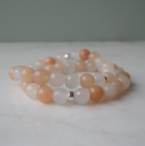 Pink Aventurine and Agate Gemstone Bracelet