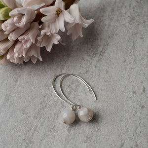 Modern Sterling Silver Gemstone Earrings by Wallis Designs