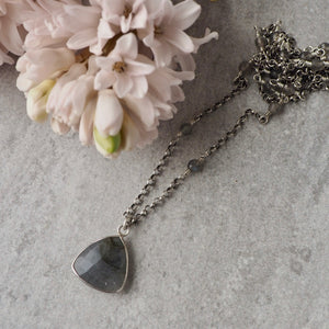 Long Labradorite Necklace