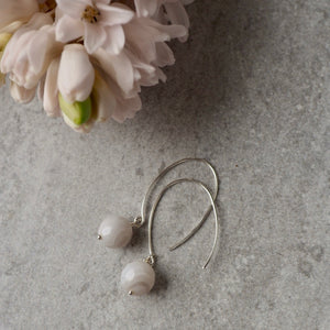 Grey Agate Gemstone Earrings by Nancy Wallis Designs