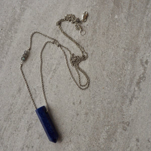 Long Gemstone Necklace with Sodalite by Wallis Designs