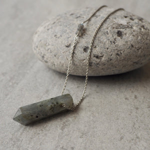 Labradorite Pendant Sterling Silver Necklace by Wallis Designs