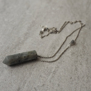 Labradorite Pendant Necklace by Nancy Wallis Designs