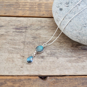 Labradorite Silver Necklace by Nancy Wallis Designs