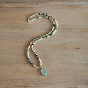 Amazonite Beaded Necklace by Nancy Wallis Designs