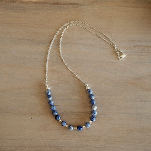 Blue Jasper Gemstone Necklace made in Canada