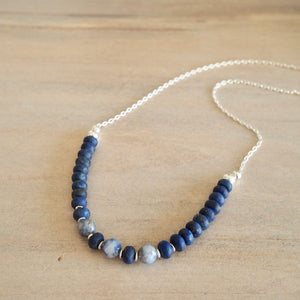 Navy Blue Necklace by Nancy Wallis Designs