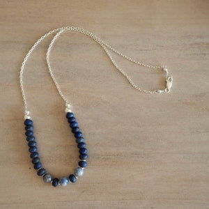 Lapis Lazuli and Blue Jasper Necklace by Wallis Designs