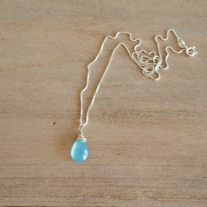 Sky Blue Gemstone Necklace