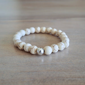 White Gemstone Bracelet by Nancy Wallis Designs