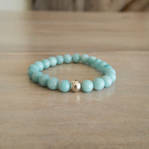 Amazonite Gemstone Bracelet made in Canada