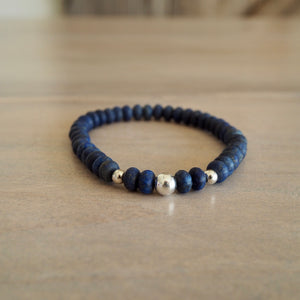 Navy Blue Lapis Lazuli Bracelet by Nancy Wallis Designs