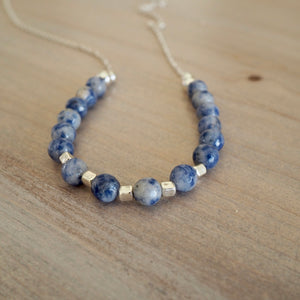 Blue Jasper Summer Necklace by Nancy Wallis Designs