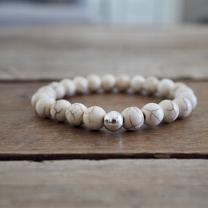 Howlite Gemstone Bracelet by Nancy Wallis Designs
