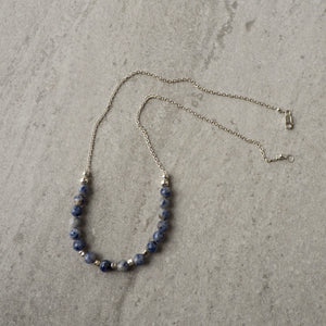 Blue Jasper Sterling Silver Necklace by Nancy Wallis Designs