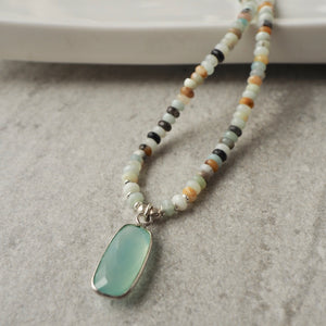 Amazonite Necklace by Nancy Wallis Designs