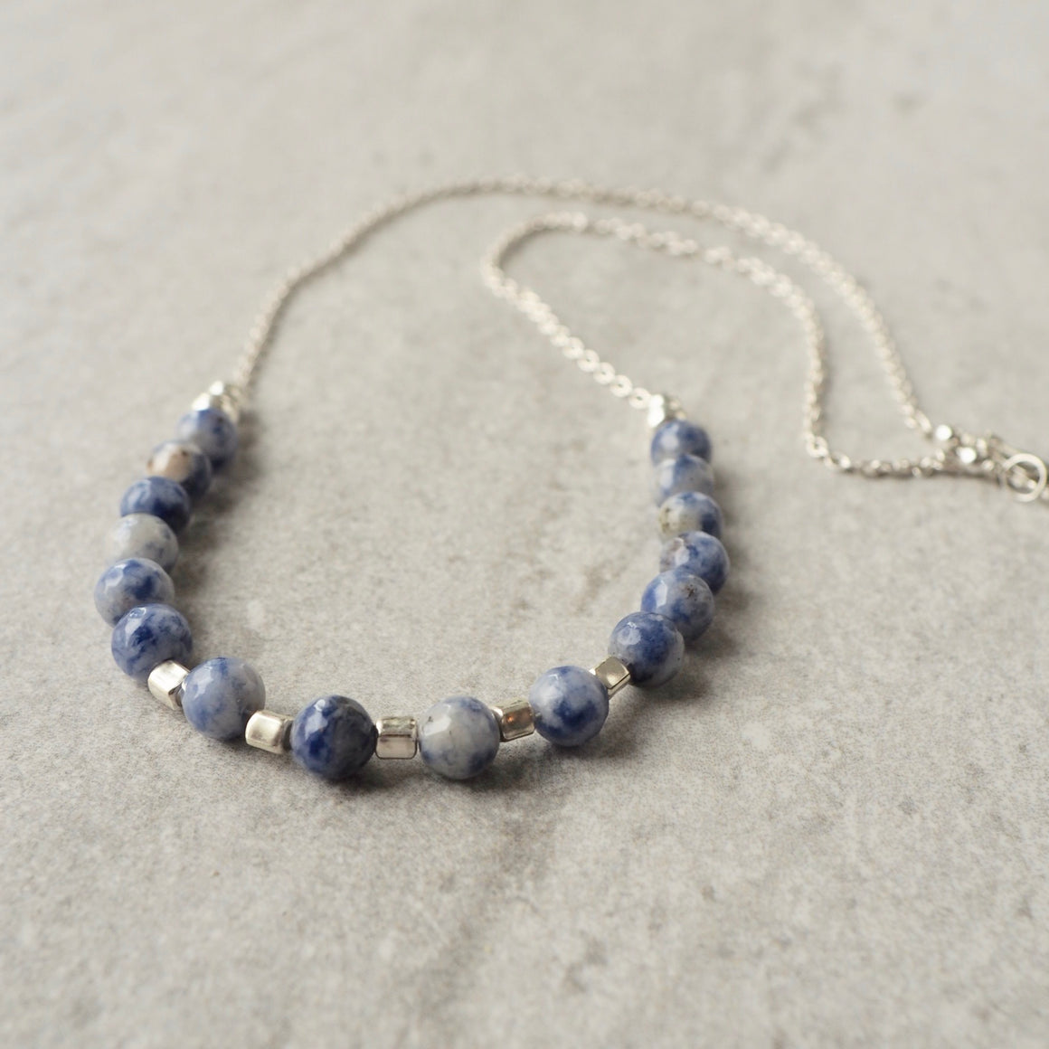 Blue Gemstone Necklace by Nancy Wallis Designs
