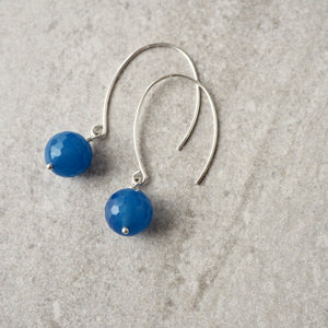 Blue Agate Modern Earrings made in Canada by Wallis Designs