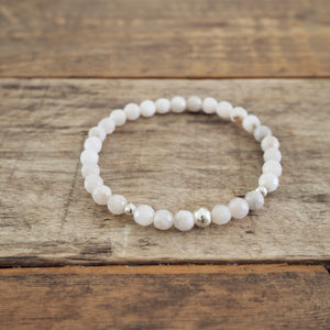 Made in Canada by White Agate Gemstone Bracelet