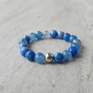 Blue Agate Bracelet by Nancy Wallis Designs