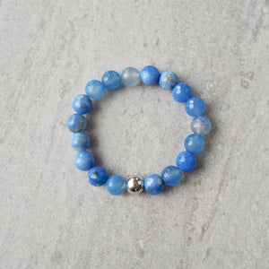 Cornflower Blue Gemstone Bracelet by Nancy Wallis Designs