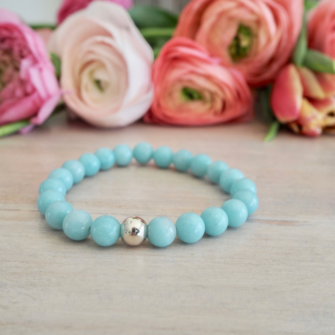 Amazonite Stretch Bracelet by Nancy Wallis Designs