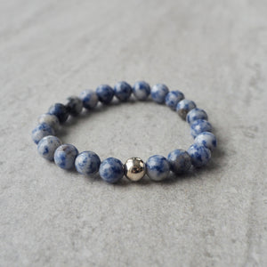 Blue Denim Gemstone Bracelet