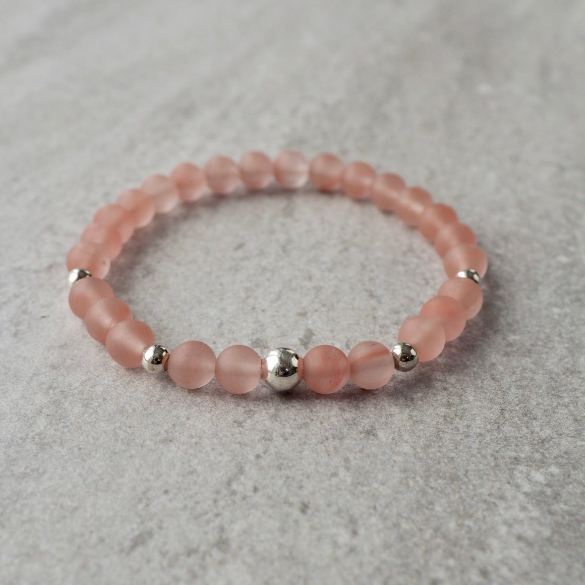Rosy Beach Gemstone Bracelet