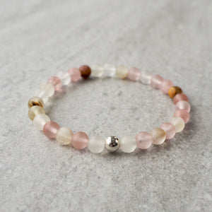 Quartz Gemstone Bracelet by Nancy Wallis Designs