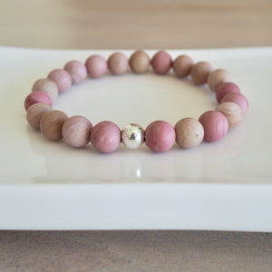 Made in Canada Pink Gemstone Bracelet by Wallis Designs