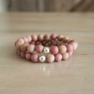 Pink Gemstone Bracelet for Summer by Nancy Wallis Designs