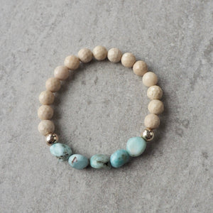Larimar Bracelet Summer Accessories by Nancy Wallis Designs