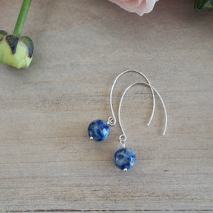 Blue Gemstone Earrings by Nancy Wallis Designs