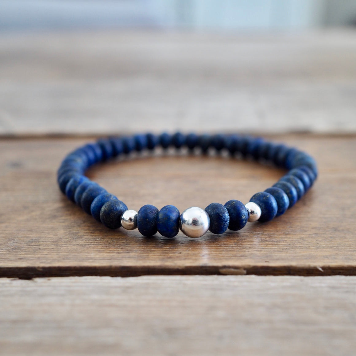 Lapis Lazuli Bracelet by Nancy Wallis Designs in Canada