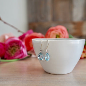 Blue Topaz Silver Earrings by Nancy Wallis Designs in Canada