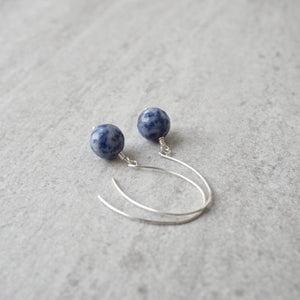 Blue Jasper Gemstone Earrings by Nancy Wallis Designs