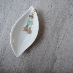 Delicate Gemstone Earrings in Neutral Palette by Wallis Designs