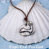 Cape Cod Map Pendant Necklace on Sterling Chain