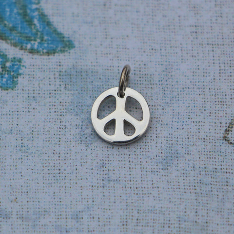 Tiny, Adorable, Sterling Peace Charm