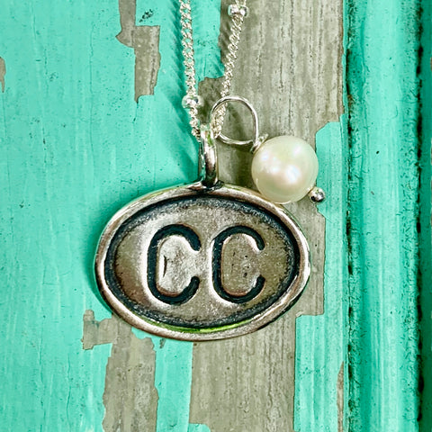 Cape Cod (CC) Sterling Charm - Horizontal Charm, Airport Code Charm