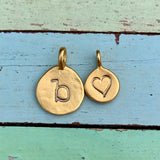 Dainty Gold Heart Charm