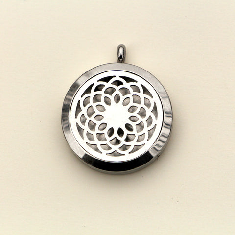 Zinnia Stainless Steel Essential Oil Diffuser Necklaces