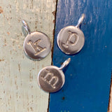Dainty Sterling Initial Charm (LOWERCASE FONT)