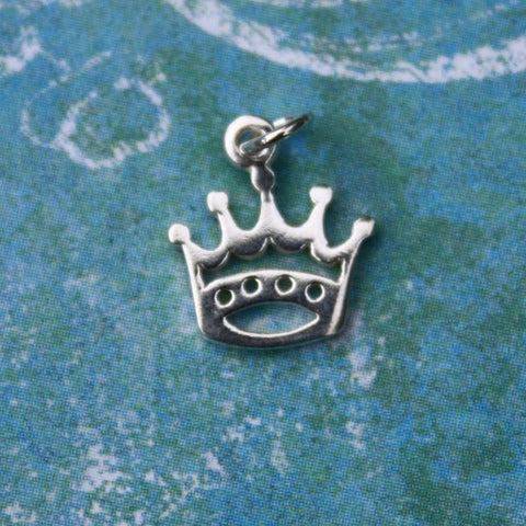 Tiny Sterling Crown Charm