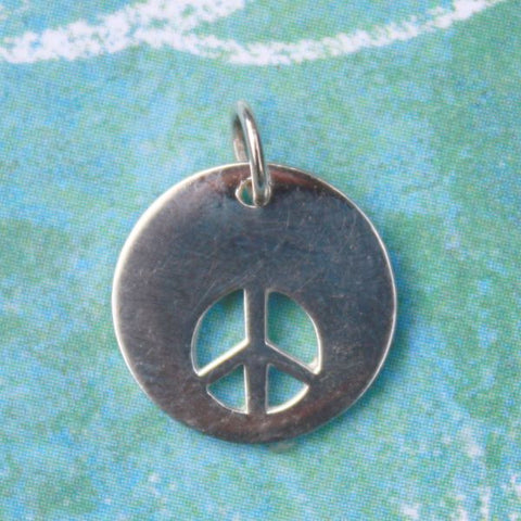 Cut-out Peace Sterling Disc