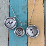 Rimmed Sterling Initial Charm
