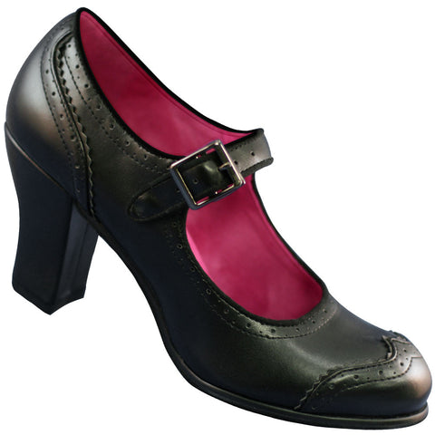 Aris Allen Heeled 1940s Mary Jane Wingtip - CLOSEOUT