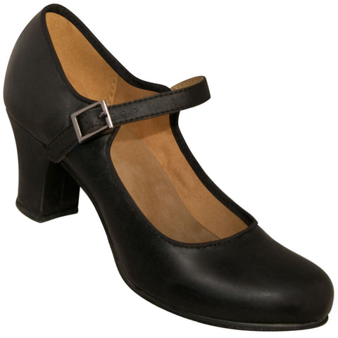 Aris Allen Black 1940s Mary Jane Character Shoe