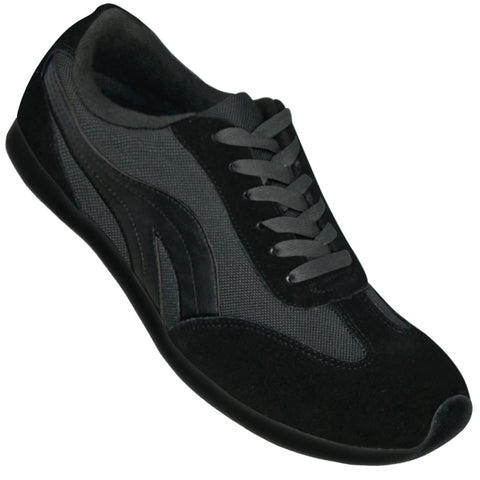 Aris Allen Men's Black Retro Runner Dance Sneaker